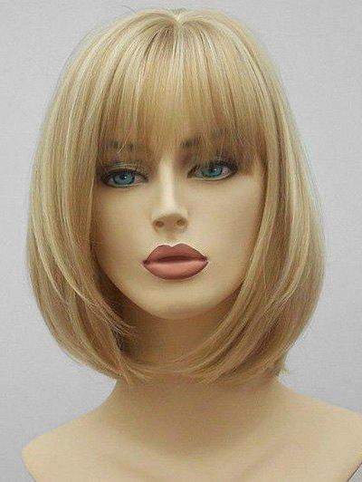 Store See-through Bang Short Straight Synthetic Hair