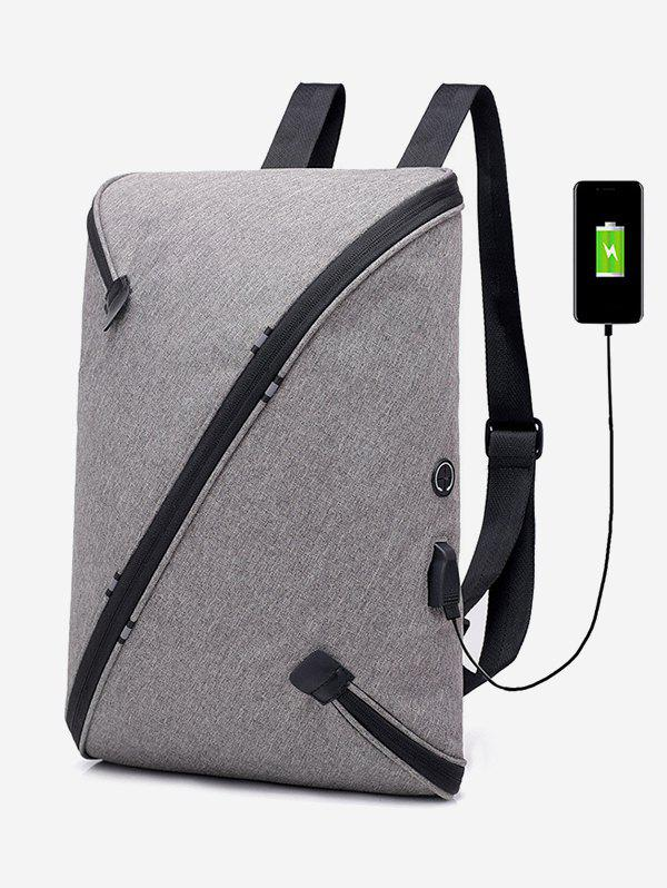 Fancy USB Charging Anti-Theft Laptop Backpack Bag