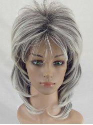 Short Colormix Layered Straight Synthetic Wig -