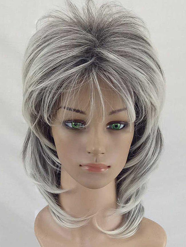 Unique Short Colormix Layered Straight Synthetic Wig