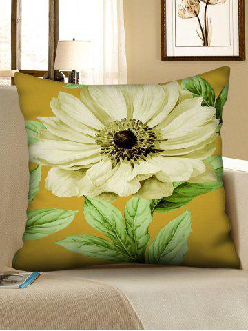 Flower Printed Decorative Pillowcase