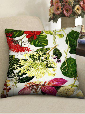 Flowers Printed Decorative Square Pillowcase