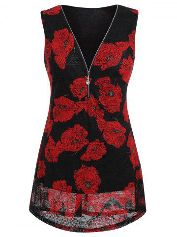 Plus Size Printed Tunic Tank Top