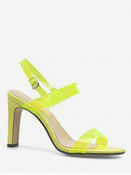 Neon Ankle Strap Transparent PVC Sandals -