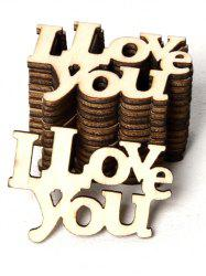 15 Pcs I Love You Pattern Valentine Wooden Decorations -
