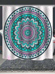 Tribal Mandala Print Waterproof Shower Curtain -