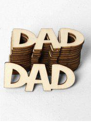 15 Pcs Father's Day Dad Pattern Wooden Decorations -