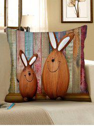 Easter Rabbits Print Decorative Pillowcase -