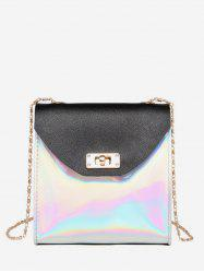 Two Tone Chain Shoulder Bag -
