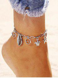 Starfish Shell Turtle Charm Anklet -