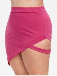 Rosegal Cutout Plus Size Asymmetrical Skirt -