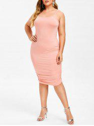 Rosegal Plus Size Ruched Tank Dress -