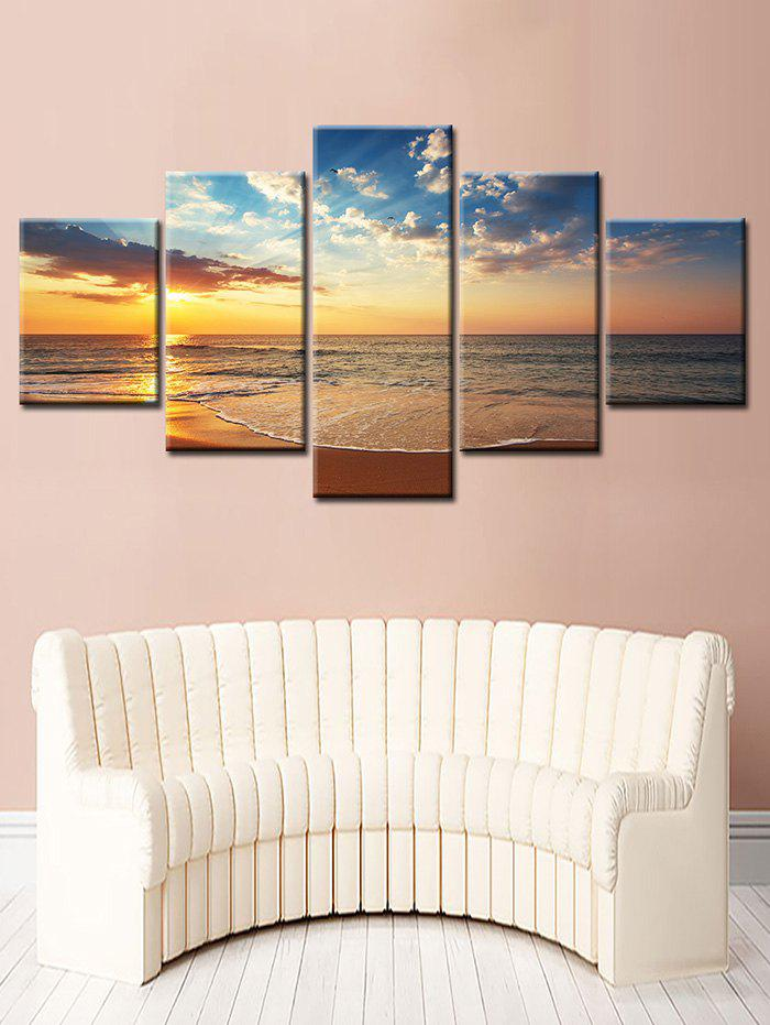 Chic Sunset Sea Split Unframed Canvas Paintings