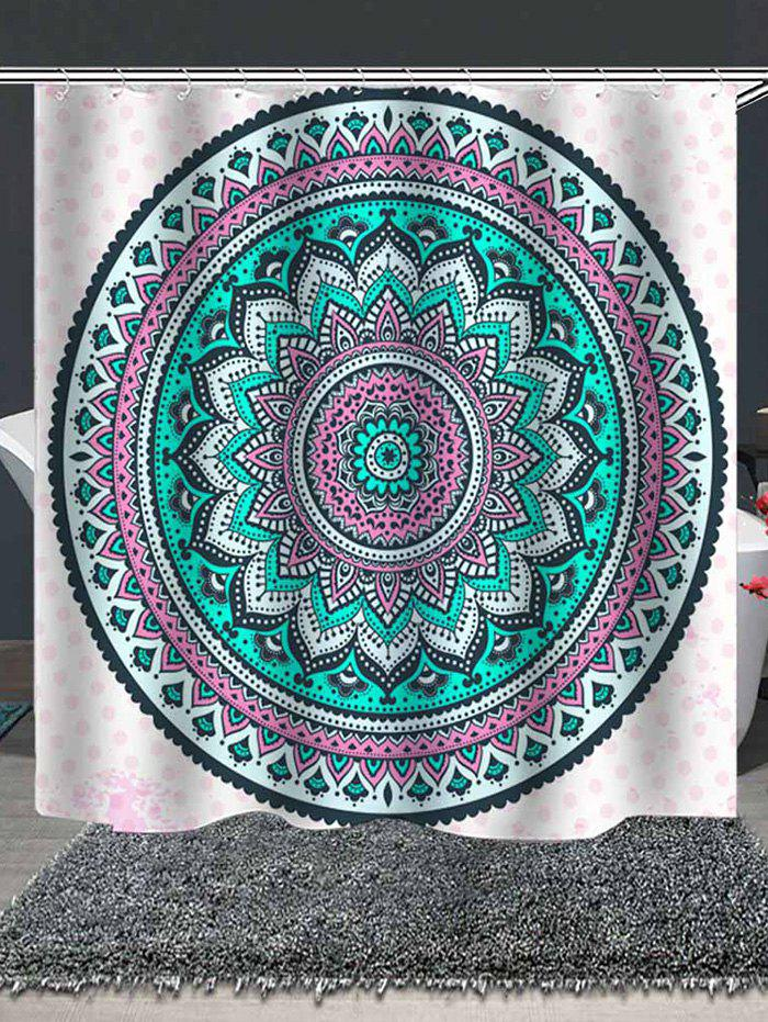 Outfit Tribal Mandala Print Waterproof Shower Curtain