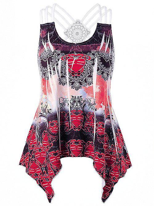 Best Strappy Ethnic Print Tank Top