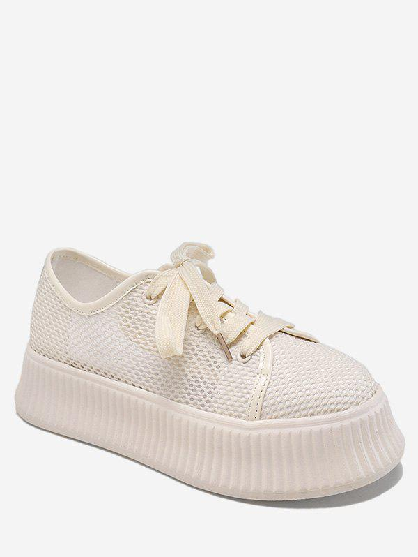 Chic Mesh Design Breathable Casual Shoes