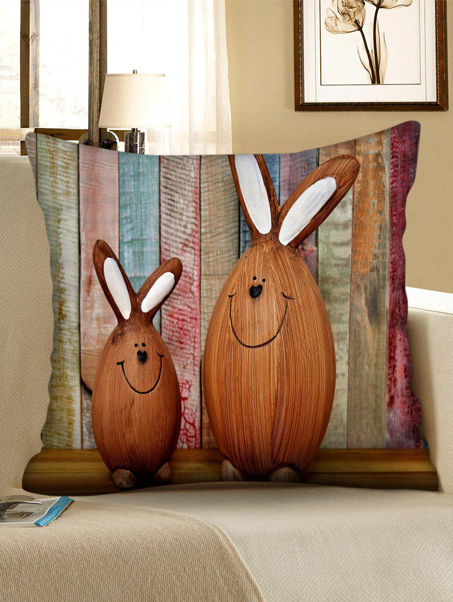 Chic Easter Rabbits Print Decorative Pillowcase