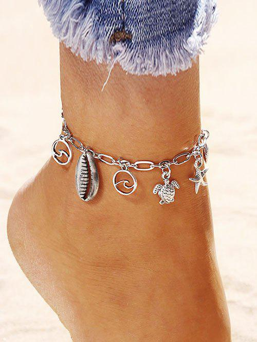 Online Starfish Shell Turtle Charm Anklet