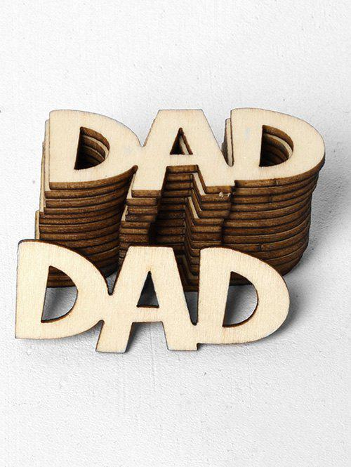 Discount 15 Pcs Father's Day Dad Pattern Wooden Decorations
