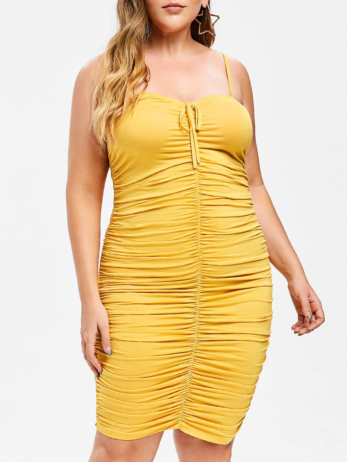 c6b4becb9ce 2019 Rosegal Plus Size Bodycon Ruched Dress