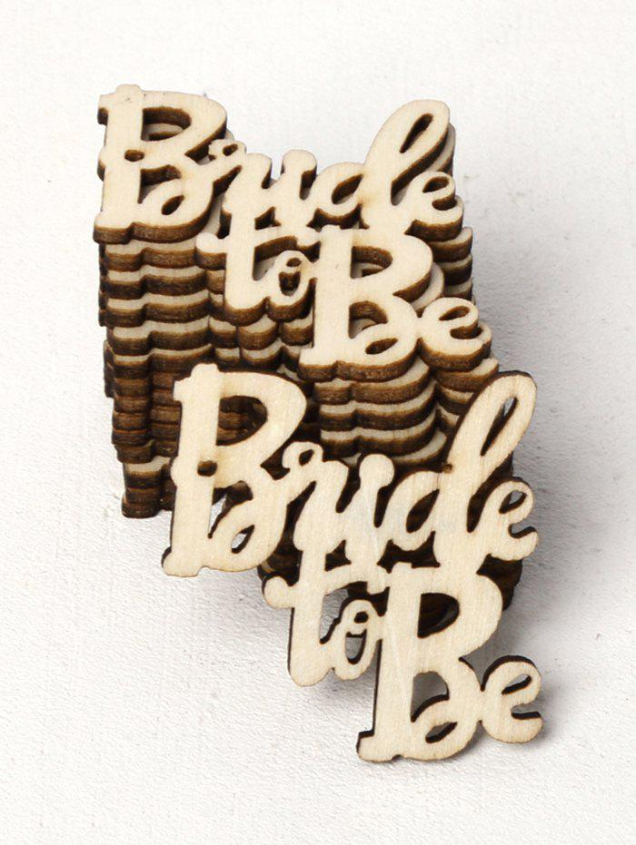 Chic 15 Pcs Bride To Be Pattern Wedding Wooden Decorations
