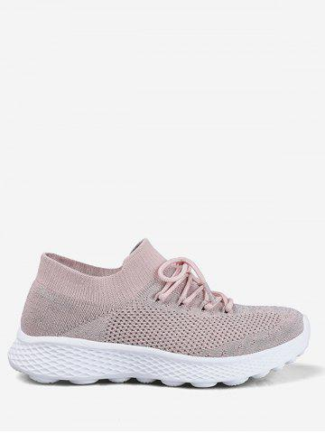 222c7e3c08c Knit Mesh Lace Design Running Sneakers
