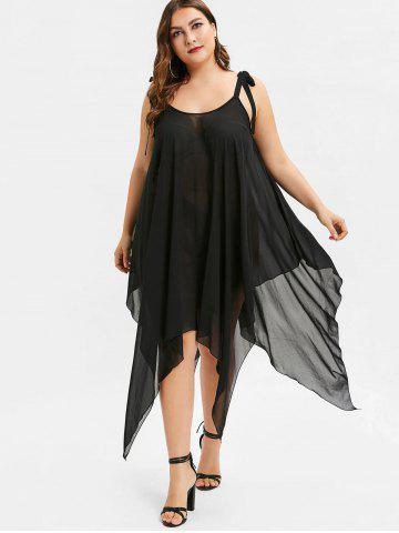 Tie Plus Size Handkerchief Cover-up