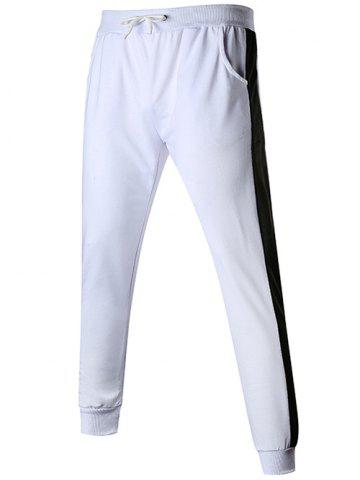 Contact Color Drawstring Jogger Pants