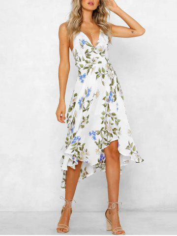 Flower Cami Asymmetrical Dress