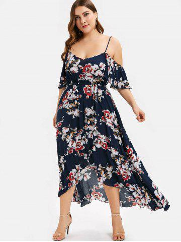 774fa055151 Plus Size Maxi Dresses - Long Sleeve, Floral, White And Black Cheap ...