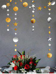1 PC Star and Round Pattern Party Banner -