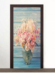 Flower Pattern Door Art Stickers -