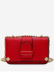 Cover Chain Square Shoulder Bag -