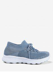 Knit Mesh Lace Design Running Sneakers -