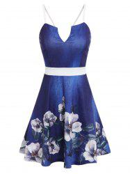 Flower Print Cami A Line Dress -