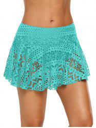 Solid Color Skirted Swimming Briefs -