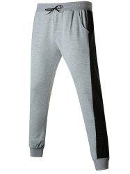 Contact Color Drawstring Jogger Pants -