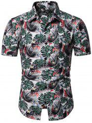 Plant Printed Short Sleeves Shirt -