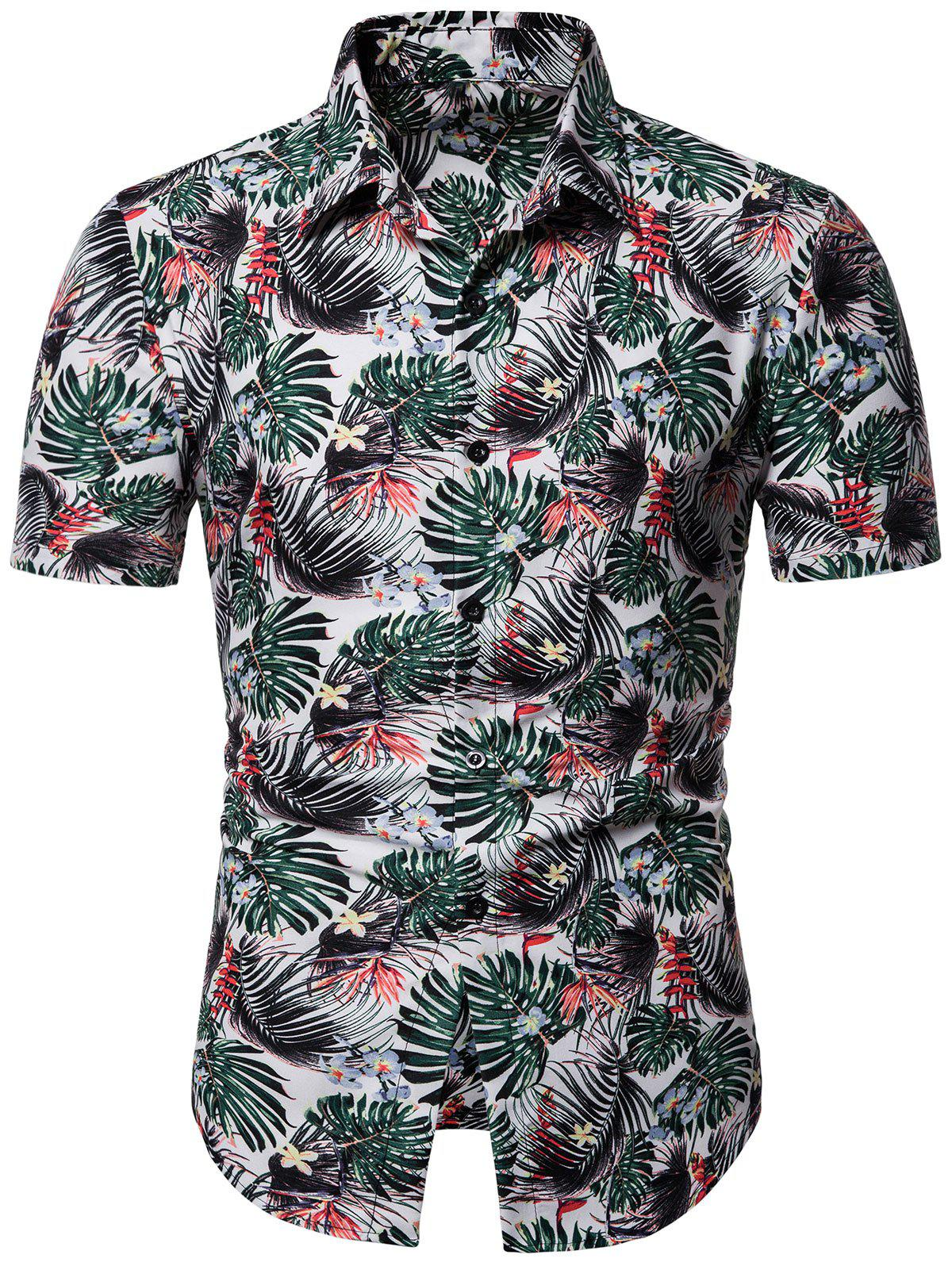 Online Plant Printed Short Sleeves Shirt