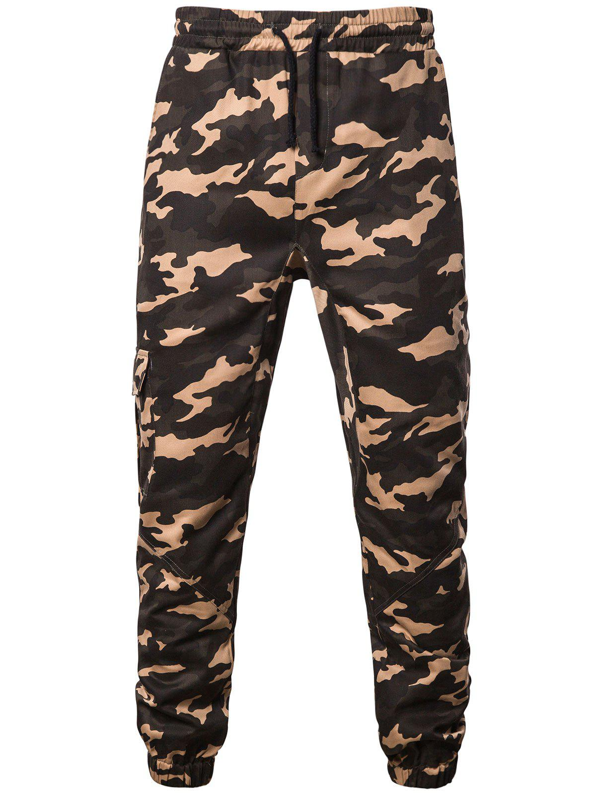 Camouflage Pattern Jogger Pants, Digital desert camouflage