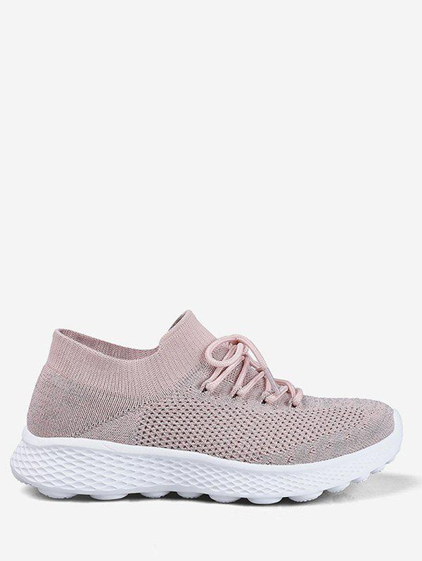Sale Knit Mesh Lace Design Running Sneakers