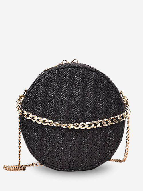 Outfit Chain Straw Round Shoulder Bag