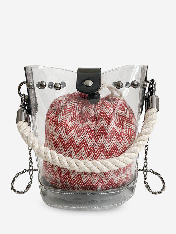 Store Transparent Chain Bucket Bag