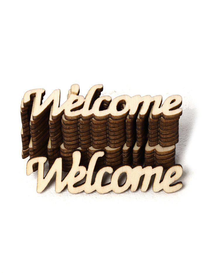 Affordable 15PCS Welcome Sign Wooden Decoration
