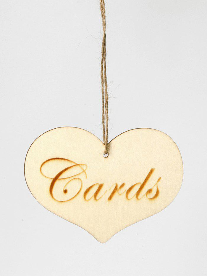 Store Heart Wedding Sign Wooden Decoration