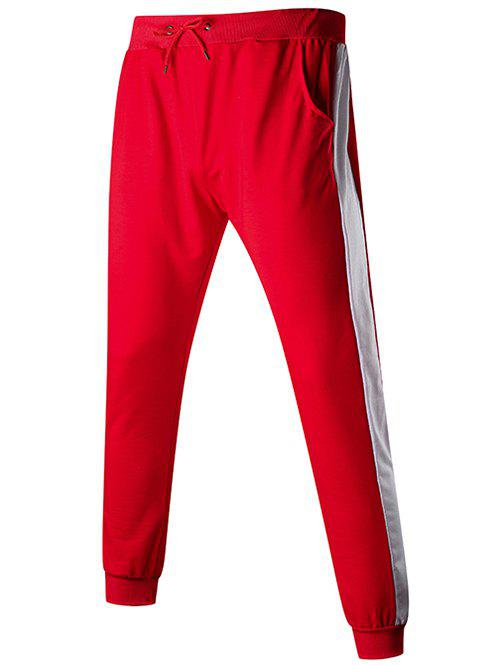 Outfit Contact Color Drawstring Jogger Pants