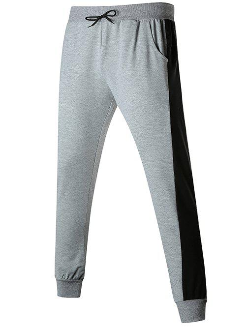 Trendy Contact Color Drawstring Jogger Pants