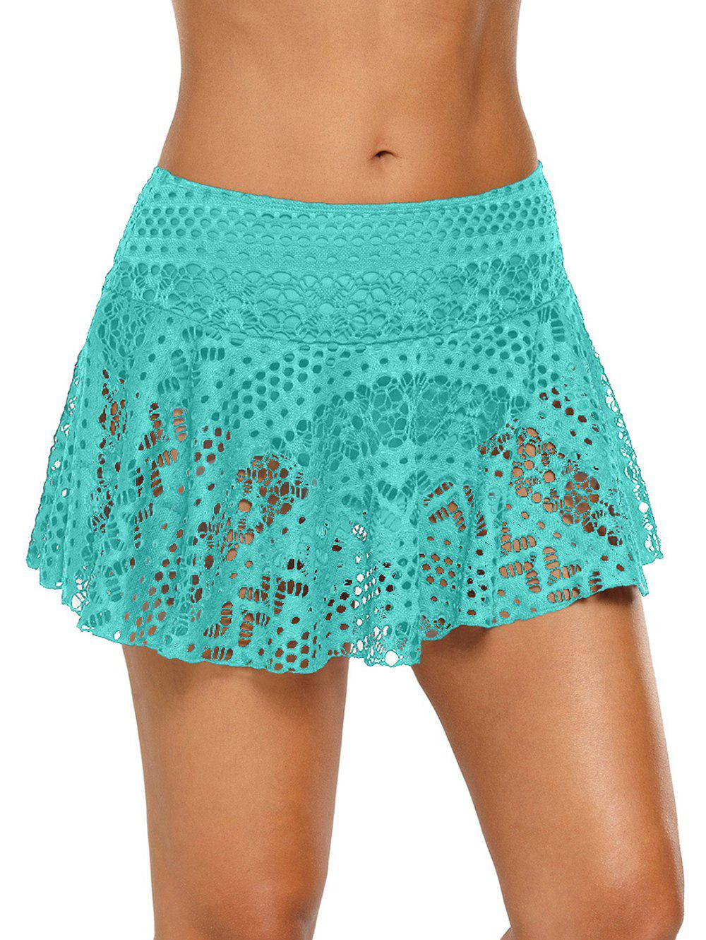 Store Solid Color Skirted Swimming Briefs