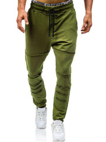Leisure Style Solid Color Jogger Pants