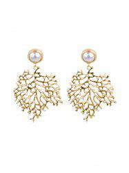 Artificial Pearl Tree Shape Earrings -